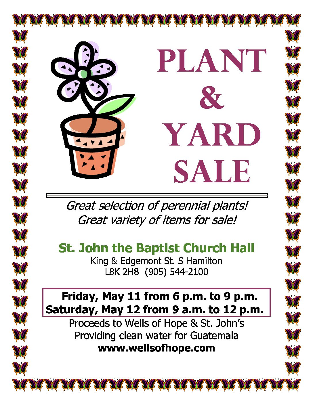 Plant and Yard Sale
